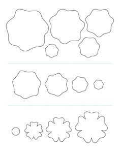 Hair Flower Template,To make flowers with vinyl and felt. I think you could do fabric to but you'd need more layers.