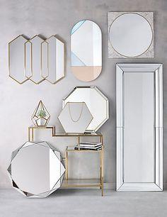 Glam Geometric Mirror | M&S Polygon or hexagon?