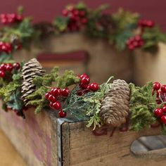 Pinecone, Berry and Moss Garland - Christmas Garlands - Christmas and Winter - Holiday Crafts