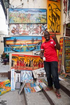 Local art shop in Stone Town, Zanzibar African Vacation, Stone Town, Losing You, White Sand Beach, Tour Guide, Tanzania, Adventure Travel, The Dreamers, Travel Inspiration