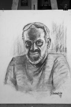 Retrato Carboncillo  - Javier Sebastián - Diseñador gráfico freelance - Diseño web - Imagen Corporativa - Redes Sociales - La Palma - Santa Cruz de Tenerife #portrait