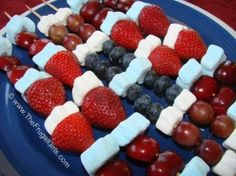 4th of July Fruit Kabobs by Milla & Mya