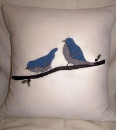A small shop with pillows,wall hangings and framed art made from recycled woolen sweaters and blankets as well as nature-inspired linocut prints. Bluebirds, Linocut Prints, Wool Blanket, Framed Art, Recycling, Pillows, Inspiration, Design, Fleece Blanket Edging