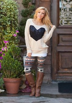Sweater and leggings
