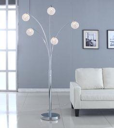 Manhattan 5-Arch Crystal Ball Arched Floor Lamp