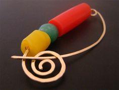 NEW!  Colourblock Shawl Pin Brooch by RedLotusJewellery on Etsy, $20.00