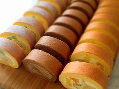 簡単♡綺麗に巻ける外巻きロールケーキ♡の画像