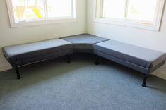 DIY upholstered banquette bench