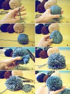 Fab design on yarn Pom Pom animal figurines creative помпоны, - Diy and Crafts Mix Pom Pom Crafts, Yarn Crafts, Sewing Crafts, Diy And Crafts, Pom Pom Animals, Pom Pom Rug, How To Make A Pom Pom, Diy Scarf, Yarns