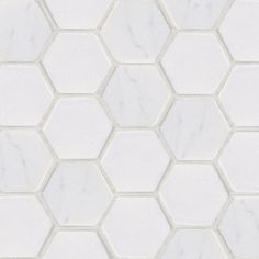Jeffrey Court Statuario Hex 12 in. x 12 in. x 8 mm White Marble Mosaic Wall Tile-53087 at The Home Depot $19.00 sq/ft