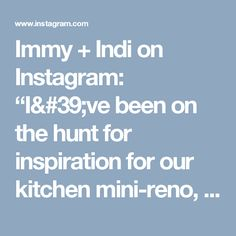 "Immy + Indi on Instagram: ""I've been on the hunt for inspiration for our kitchen mini-reno, this marble splashback is definitely ticking my boxes 🔲✔️ from the home of…"""