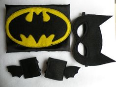 Batman Costume Cape Mask and Cuffs Set Newborn available by Mahalo, $35.00