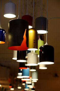 85 lamps made from recycled fire extinguishers
