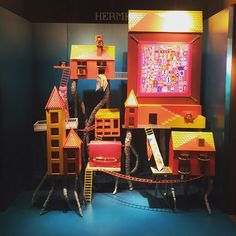 """HERMES, Mumbai, India, """"Inspired by Italo Calvino's 'Invisible Cities', pinned by Ton van der Veer Hermes Window, Invisible Cities, Market Stalls, Shop Fronts, Arcade Games, Mumbai, Hobbies, Van, India"""