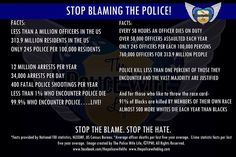 Police facts: Educate yourself before you hate on cops. I have love and respect for my brothers and sisters in uniform. There are a few bad apples in every bunch, but the majority are good. Cop Wife, Police Wife Life, Police Love, Support Police, Police Police, Police Quotes, Police Officer Quotes, Support Law Enforcement, Police Lives Matter