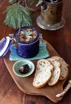 Chicken Liver Pâté with Mushrooms and Sage, served with Fig Preserves at Cooking Melangery