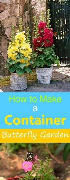 Best 45 Do It Yourself Gardening Tips for Container Gardening How to make a container butterfly garden