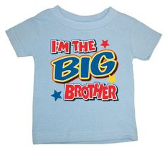 I'm The Big Sister/Little Sister/Big Brother/Little Brother T-Shirts - New Baby Gift (Pink & Blue) (Big Brother, Youth Large) $14.99