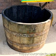 Score! Whiskey Barrel Planter at The Home Depot! #DigIn