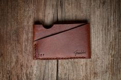 Simple and beautiful card holder, handcrafted with the finest leather, numbered and handsigned.