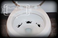Potty training sticker Toilet decal by GoodGollyGraphics on Etsy