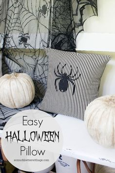 Easy Halloween Pillow | So Much Better With Age