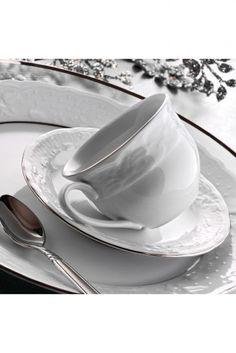 Lalezar Platin File 12 Parça Kahve Takımı Tea Cups, Tableware, Dinnerware, Tablewares, Dishes, Place Settings, Cup Of Tea