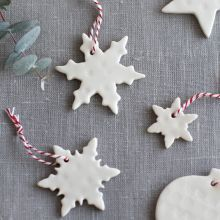 handmade ceramic snowflakes £6