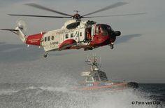 KNRM Katwijk aan Zee @PRKNRMKatwijk 2e en laatste foto van Hoistoefening #KNRM ism #BristowSar helikopter #@gemeentekatwijk
