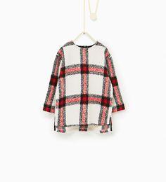 Lange trui met ruiten