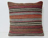 20x20 kilim pillow 20x20 extra large cushion large accent pillow large throw pillow oversized throw pillow 20x20 throw pillow purples 28440