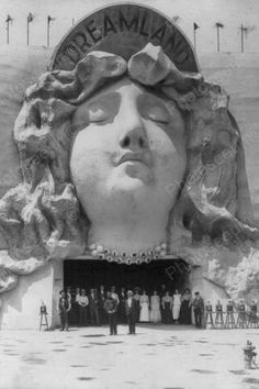 Coney Island Dreamland Woman Sculpture 4x6 Reprint Of Old Photo