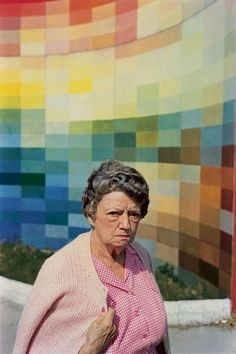 The Rainbow Wall of Happy Thoughts was not making her any happier with the situation.  [William Eggleston]