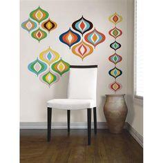 Jonathan Adler for WallPops. Bargello Wave Kit. #walldecals  #wallart  #peelandstick  #WallPops  #wallstickers  #decor  #DIY  #decorating