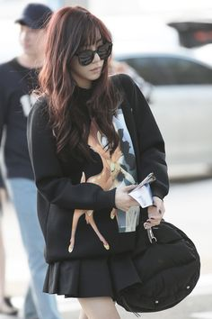 SNSD Tiffany @ Airport Come visit kpopcity.net for the largest discount fashion store in the world!!