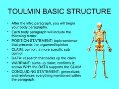 Toulmin Model Being Used To Support An Argument That We