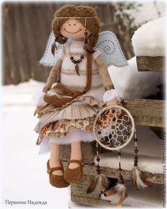 Коллекционные куклы ручной работы. Ярмарка Мастеров - ручная работа. Купить Зимняя девочка.Фея Хранительница снов.Коллекционная текстильная кукла.. Handmade.