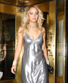 Jennifer Lawrence looked gorgeous at the Costume Institute Gala at the Metropolitan Museum of Art in NYC on Monday night, but the afterparty is where she Gala Dresses, Nice Dresses, Slip Dresses, Jennifer Lawrence Wallpaper, Jennifer Laurence, Silk Chemise, Silk Nightgown, Mini Slip Dress, Trends