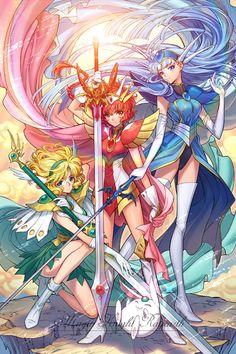 Fan of many anime, manga, and game series as well as regal and lolita aesthetics. Manga Anime, Art Anime, Ichigo Y Rukia, Arte Nerd, Arte Sailor Moon, Magic Knight Rayearth, Xxxholic, Sailor Moon Crystal, Cardcaptor Sakura