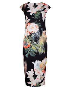 Opulent Bloom print dress - Black | Dresses | Ted Baker