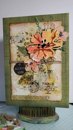 Atc Cards, Cricut Cards, Paper Cards, Tim Holtz Dies, Tim Holtz Stamps, Sizzix Dies, Beautiful Handmade Cards, Handmade Birthday Cards, Card Sketches