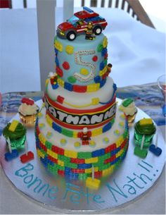 Lego cake Lego Cake, Eat, Desserts, Food, Meet, Tailgate Desserts, Meal, Dessert, Eten
