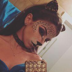 Halloween cheetah make-up ❤️