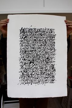 Christophe Badani. Abstract Calligraphy.