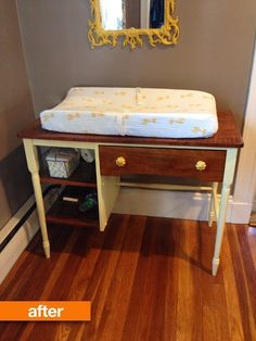 Before & After: A Hand-Me-Down Desk Is Reborn