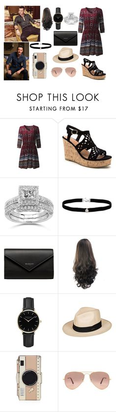 """""""Cute lunch date with Luke"""" by lewandowski2017 ❤ liked on Polyvore featuring Annello, Amanda Rose Collection, Balenciaga, ROSEFIELD, Roxy, Kate Spade and Ray-Ban"""