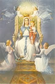 Mary Crown as Queen of heaven with her Son Jesus