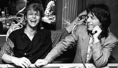 David and Mick Jagger