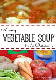 Read Growing Vegetable Soup then make soup with kids for a nutrition lesson and activity about healthy eating for preschool, pre-k, and kindergarten. Nutrition Activities, Kids Nutrition, Nutrition Guide, Nutrition Tracker, Preschool Cooking Activities, Cheese Nutrition, Nutrition Store, Nutrition Education, Oatmeal Nutrition