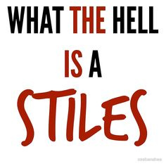 teen wolf - what the hell is a stiles?